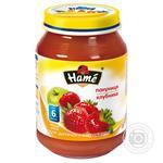 Пюре фруктовое Хаме Клубника для детей с 6 месяцев стеклянная банка 190г Чехия