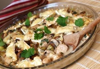 Курка з грибами у вершковому соусі