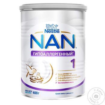 Смесь молочная Нестле Нан 1 Гипоаллергенный сухая для детей с рождения 400г - купить, цены на Novus - фото 8