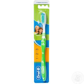 Зубная щетка Oral-B Натуральная свежесть средняя