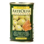 Оливки зеленые Arte Oliva с лососем 300г