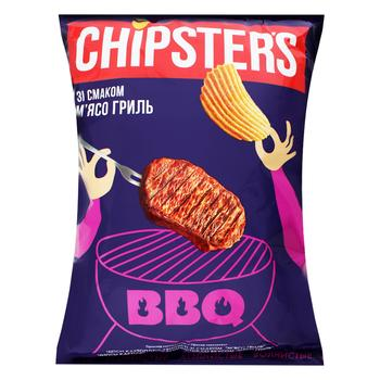 Chipsters Wavy Chips with Grilled Meat Flavor120g - buy, prices for CityMarket - photo 1
