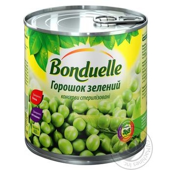 Bonduelle Canned Green Pea 425ml - buy, prices for Novus - image 1