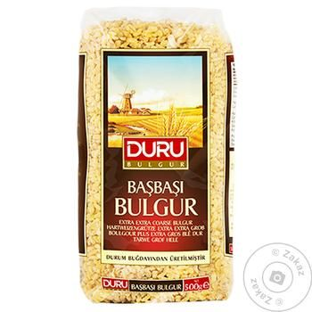 Крупа булгур Duru Bulgur из твердых сортов пшеницы цельнозерновая 500г