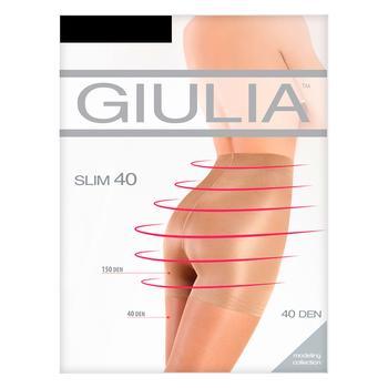 Колготки Giulia Slim жіночі nero 40ден 3р - купити, ціни на МегаМаркет - фото 1