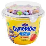 Savushkin SuperKid Strawberry and Milk Chocolate Sweets Yogurt for Children 2% 103g