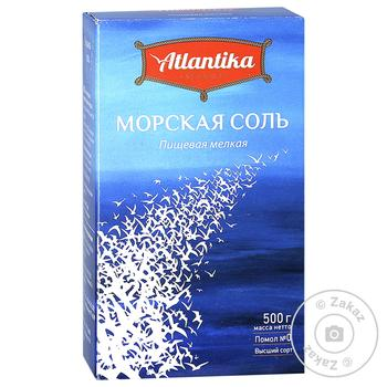 Соль морская Атлантика мелкая 500г - купить, цены на Novus - фото 1