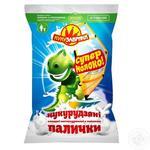 Палочки кукурузные Кукузаврики сладкие неглазированные с молоком 60г - купить, цены на МегаМаркет - фото 1