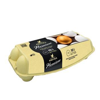 Яйця курячі Квочка Premium С0 10шт - купити, ціни на Фуршет - фото 1