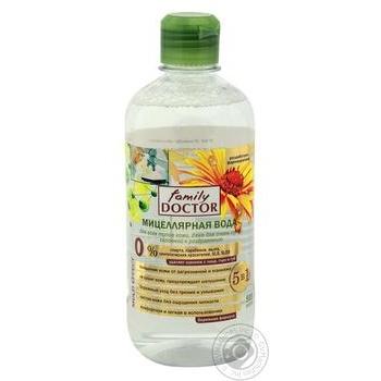 Міцелярна вода для всіх типів шкіри, навіть для дуже сухої, схильної доподразнень FAMILY DOCTOR 500 мл