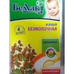 Buckwheat dairy-free porridge Bellakt for 4+ months babies 250g Belarus