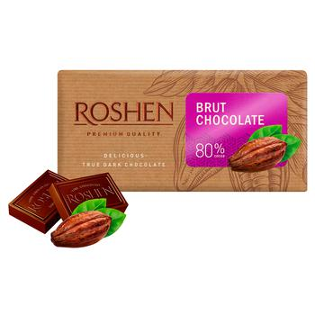 Шоколад черный Roshen Брют 80% 90г - купить, цены на Ашан - фото 2