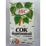 Juice Abc birch sap with sugar 1000ml tetra pak