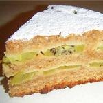 Пирог с ананасом и киви на лимонаде