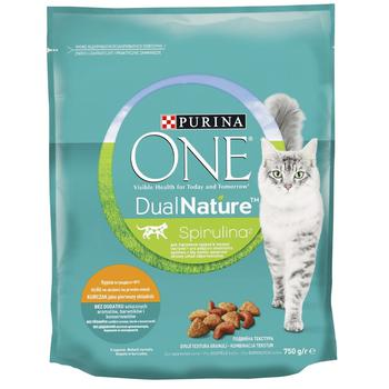 Purina One DualNature for cats with chicken dry food 750g - buy, prices for CityMarket - photo 1