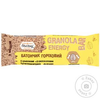 Батончик Granola горіховий 40г - купити, ціни на МегаМаркет - фото 1