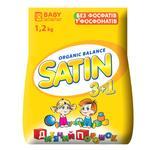 Пральний порошок Satin Organic Balance для дитячого одягу автомат 1,2кг