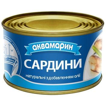 Akvamarin Natural With Oil Sardines 230g - buy, prices for Auchan - photo 1