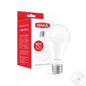 Лампа світлодіодна Maxus 1-LED-778 A60 12W 4100K 220V E27 - купить, цены на Novus - фото 1