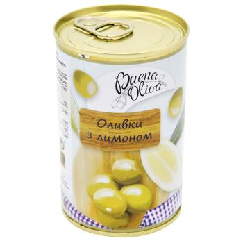 Buena Oliva Pitted Green Olives with Lemon 314ml - buy, prices for CityMarket - photo 1