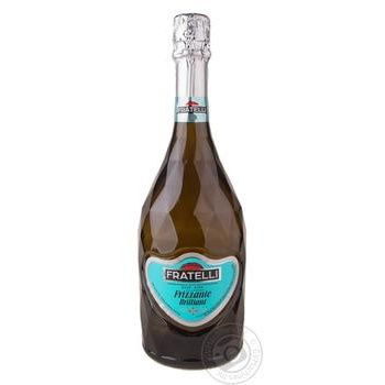 Вино игристое Fratelli Frizzante Brilliant белое сухое 13% 0,75л
