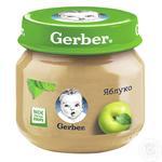 Пюре Гербер фруктовое яблоко без крахмала и сахара для детей с 4 месяцев стеклянная банка 80г Польша