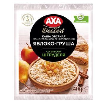 Каша овсяная AXA Premium Яблоко-Груша со вкусом штруделя моментального приготовления 40г