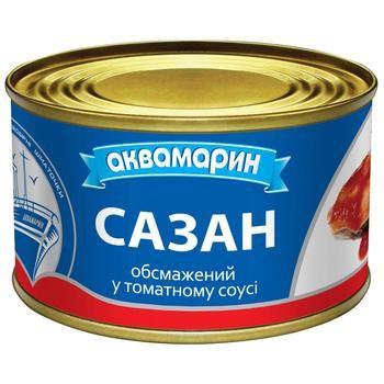Akvamaryn Fried In Tomato Sauce Common Carp 230g - buy, prices for Auchan - photo 1