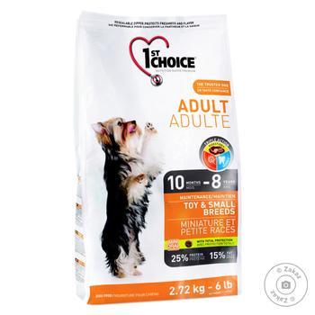 Корм сухий 1st Choice Adult з куркою для дорослих собак дрібних порід від 10міс 2.72кг - купити, ціни на Восторг - фото 1