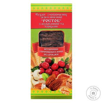 Сухари Укр Эко-Хлеб Росток клюква и орехи 150г - купить, цены на Ашан - фото 1