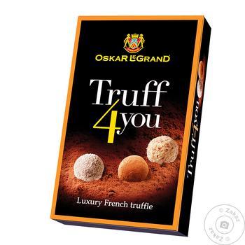 Цукерки Оскар Ле Гранд Truffle 100 г чорн.