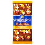 Шоколад молочный Millennium Fruits&Nuts с миндалем, цельными лесными орехами, курагой и изюмом 80г