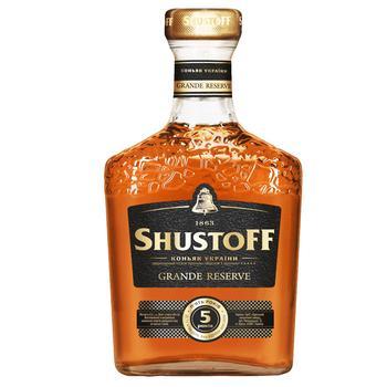 Shustov Grande Reserve 5 Stars Cognac 40% 0,5l - buy, prices for CityMarket - photo 1