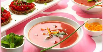 Постный суп из свеклы с апельсиновой цедрой