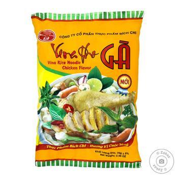 Локшина рисова Bich-Chi Vina Pho Ga зі смаком курки швидкого приготування 70г - купити, ціни на Varus - фото 1