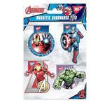 Закладки Yes Marvel магнитные 4шт