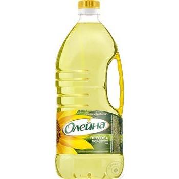 Oleina Presova Refined Sunflower Oil 1,8l - buy, prices for CityMarket - photo 1