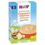 Каша дитяча HiPP Кукурудзяна з фруктами з пребіотиками молочна без цукру з 5 місяців 250г