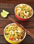 Жаренный рис с креветками