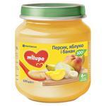 Пюре фруктовое Milupa Персик яблоко и банан для детей с 6 месяцев 125г