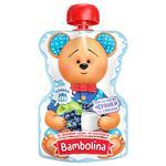 Пюре Bambolina Яблоко-черника-сливки для детей от 6 мес 90г