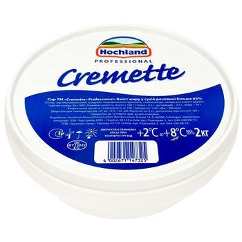 Крем-сир Hochland Professional Cremette 65% 2кг - купити, ціни на Метро - фото 1