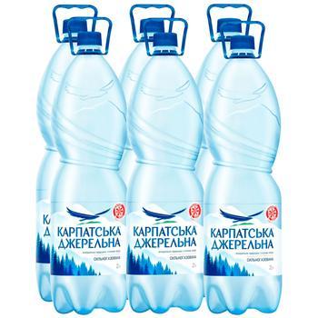 Вода мінеральна Карпатська Джеральна сильногазована 2л - купити, ціни на Метро - фото 1