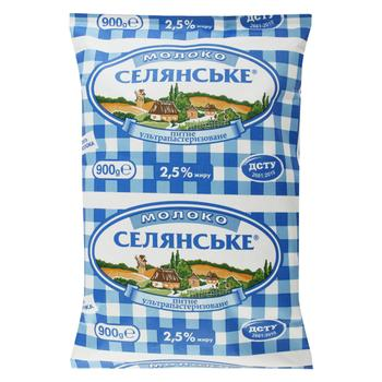 Selianske Ultrapasteurized Milk 2.5% 900g - buy, prices for Tavria V - image 1