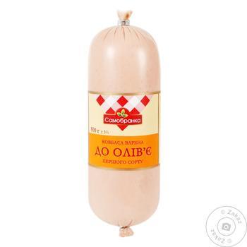 Samobranka Sausage To Olivier Boiled First Grade 500g - buy, prices for Furshet - image 1