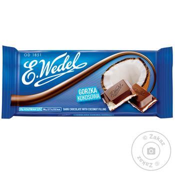 Шоколад темный E. Wedel с кокосовой начинкой 100г - купить, цены на Novus - фото 1