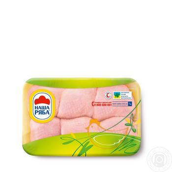 Мясо бедра Наша Ряба цыпленка-бройлера охлажденное (упаковка ~ 450-550г)