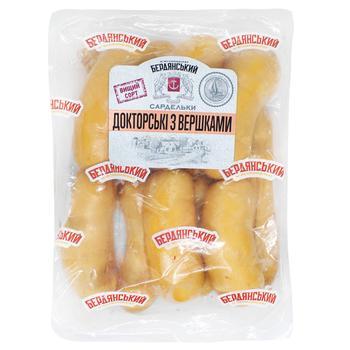 Сардельки Бердянские Колбасы Докторские со сливками высшего сорта весовые