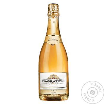 Вино игристое Bagrationi Золотое белое полусладкое 12% 0,75л