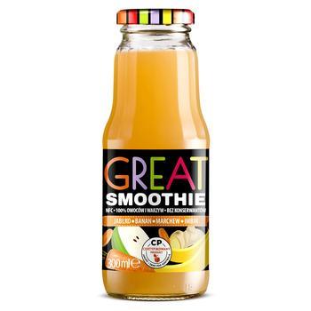Смузи Great Smoothie яблоко, банан, морковь, имбирь 0,3л